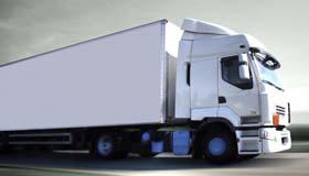 camion in strada mini